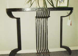 l 39 atelier du fer forg metallerie jc sabat castelnaudary console et commode d coratives. Black Bedroom Furniture Sets. Home Design Ideas